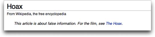 hoax@wikipedia