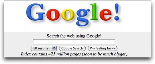 Google Start 1998