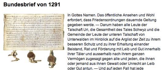 Bundesbrief 1291