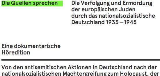 Die Quellen sprechen - Bayerischer Rundfunk & Institut für Zeitgeschichte